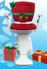 Christmas stairlift 150x220