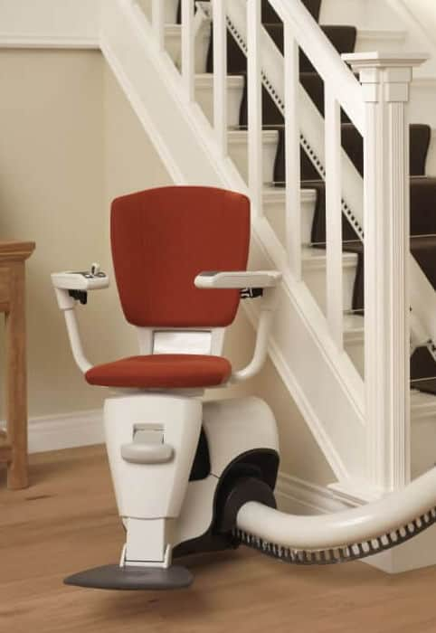 Flow 2 stairlift on a curved rail