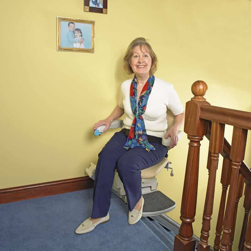 manual swivel seat stairlift