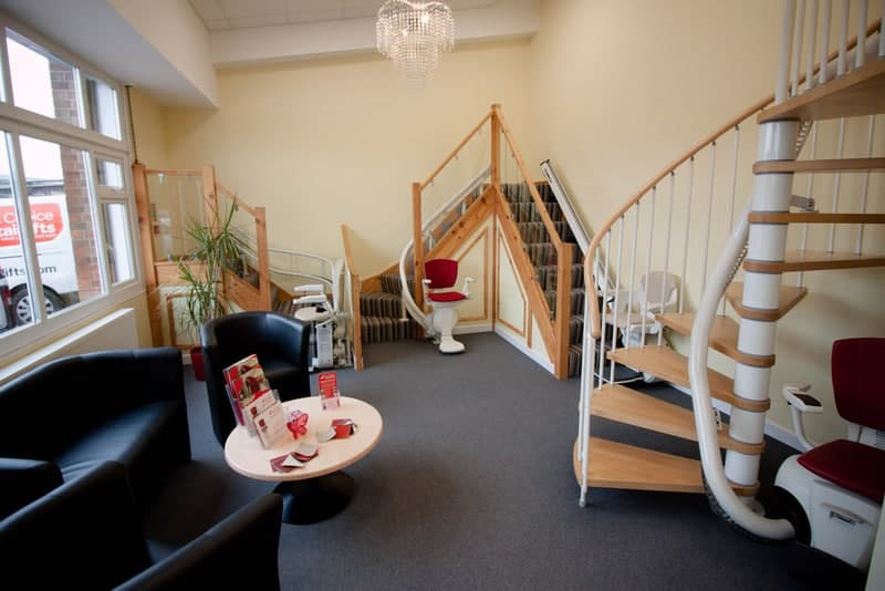 compare stairlifts and try them in our showroom